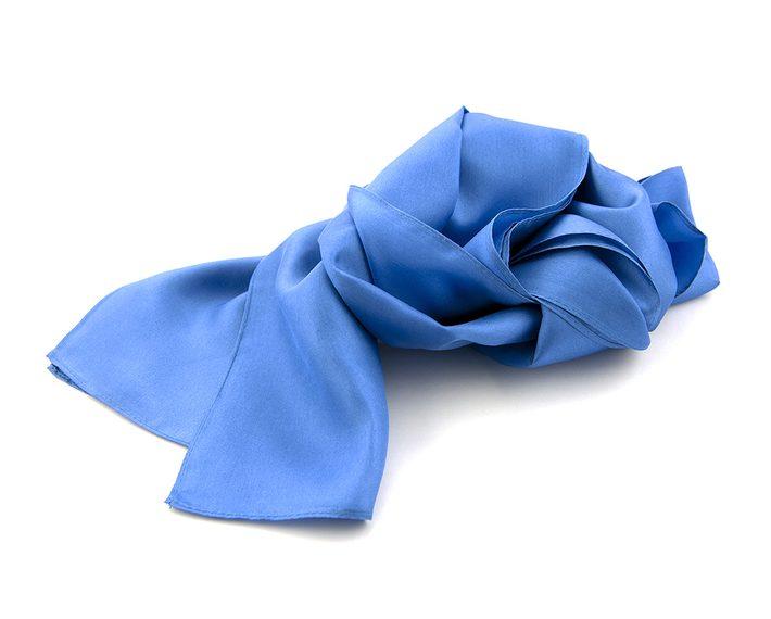 blauwe shawl