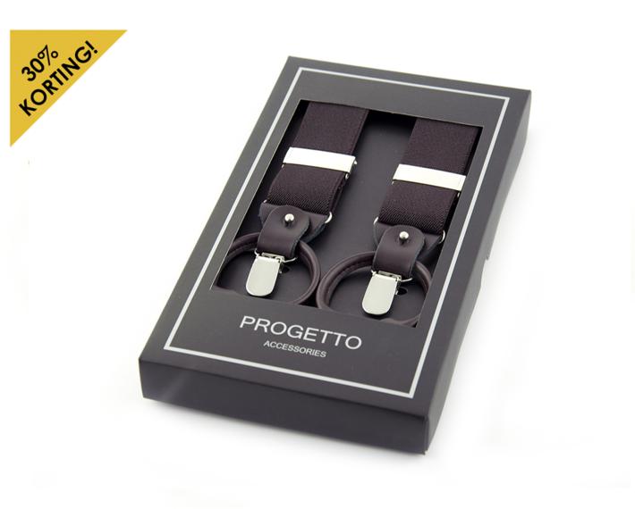 Luxe progetto bretel bruin elastiek