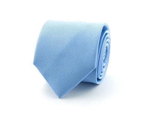 Stropdas effen polyester | Lichtblauw