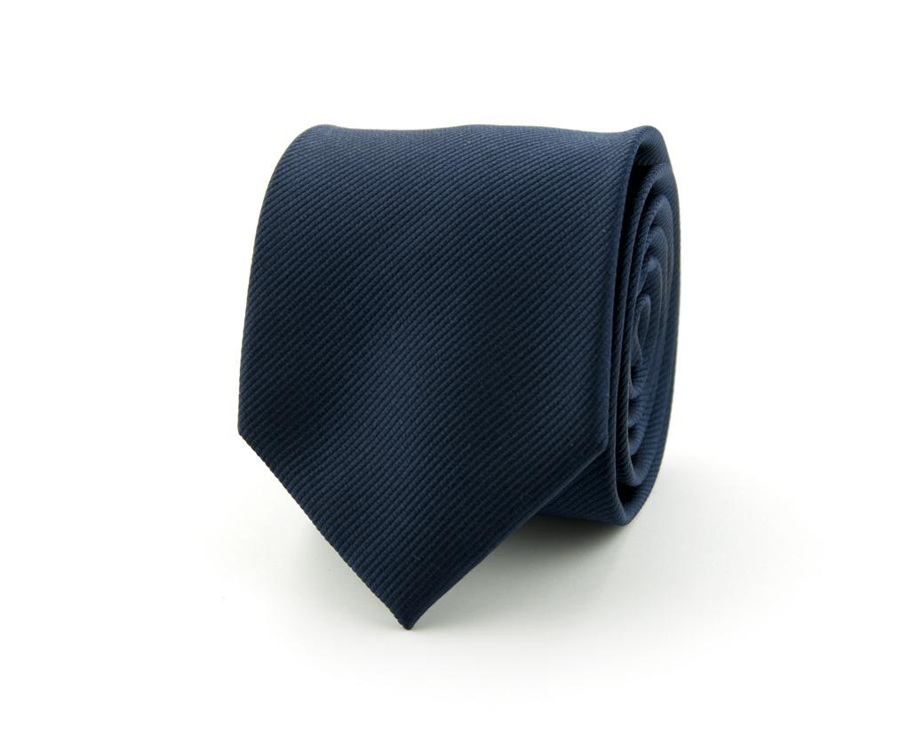Stropdas effen polyester | Marineblauw